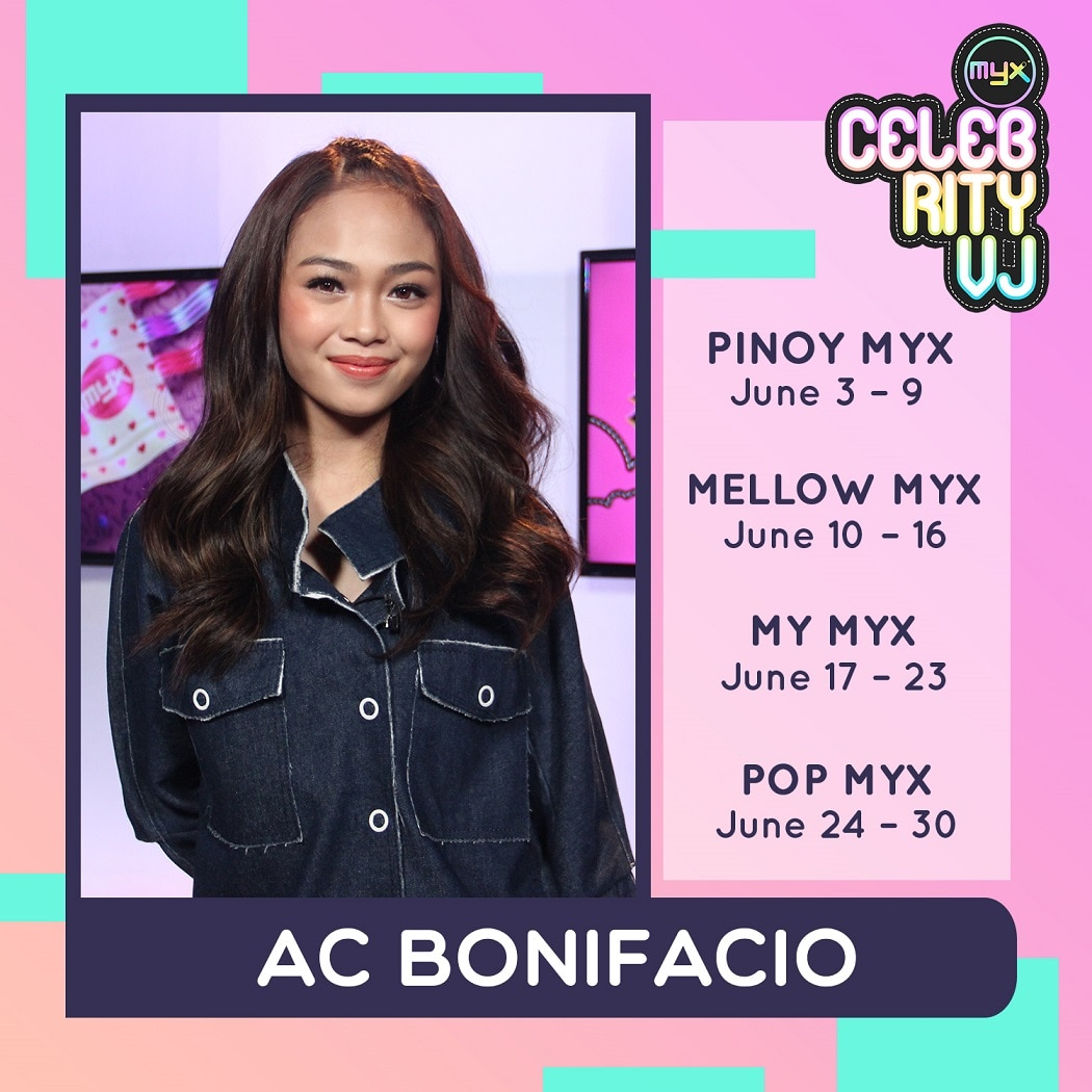 AC Bonifacio grooves into MYX as Celeb VJ this June