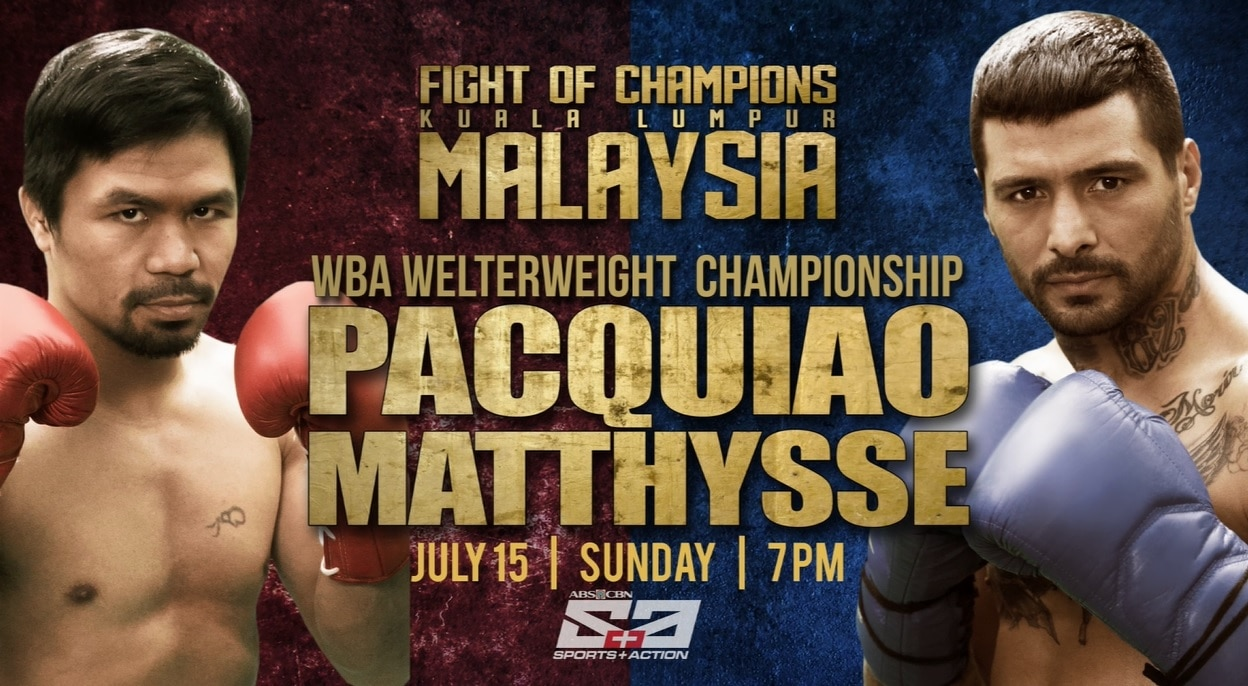 Pacquiao-Matthysse, ipapalabas sa ABS-CBN, S+A