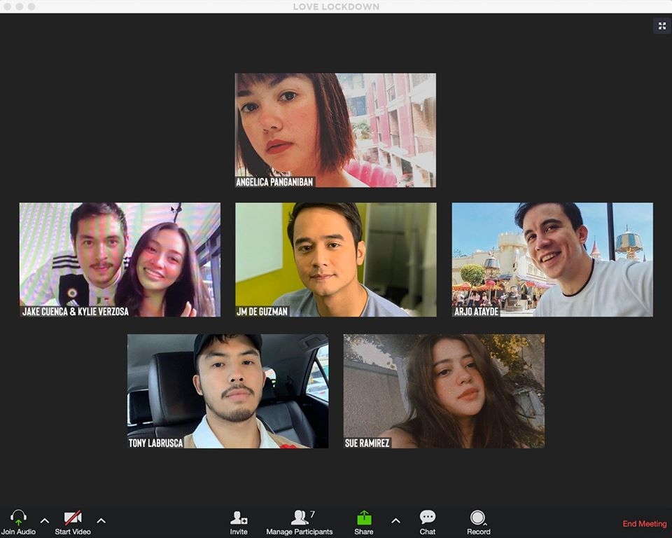 """Angelica, JM, Tony, Jake, Arjo, Sue, and Kylie tease new iWant project """"Love Lockdown"""""""