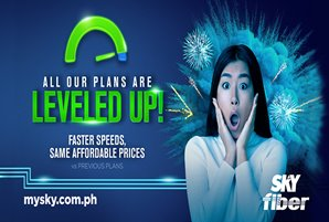 Experience Leveled-up speeds at same affordable rates with SKY Fiber