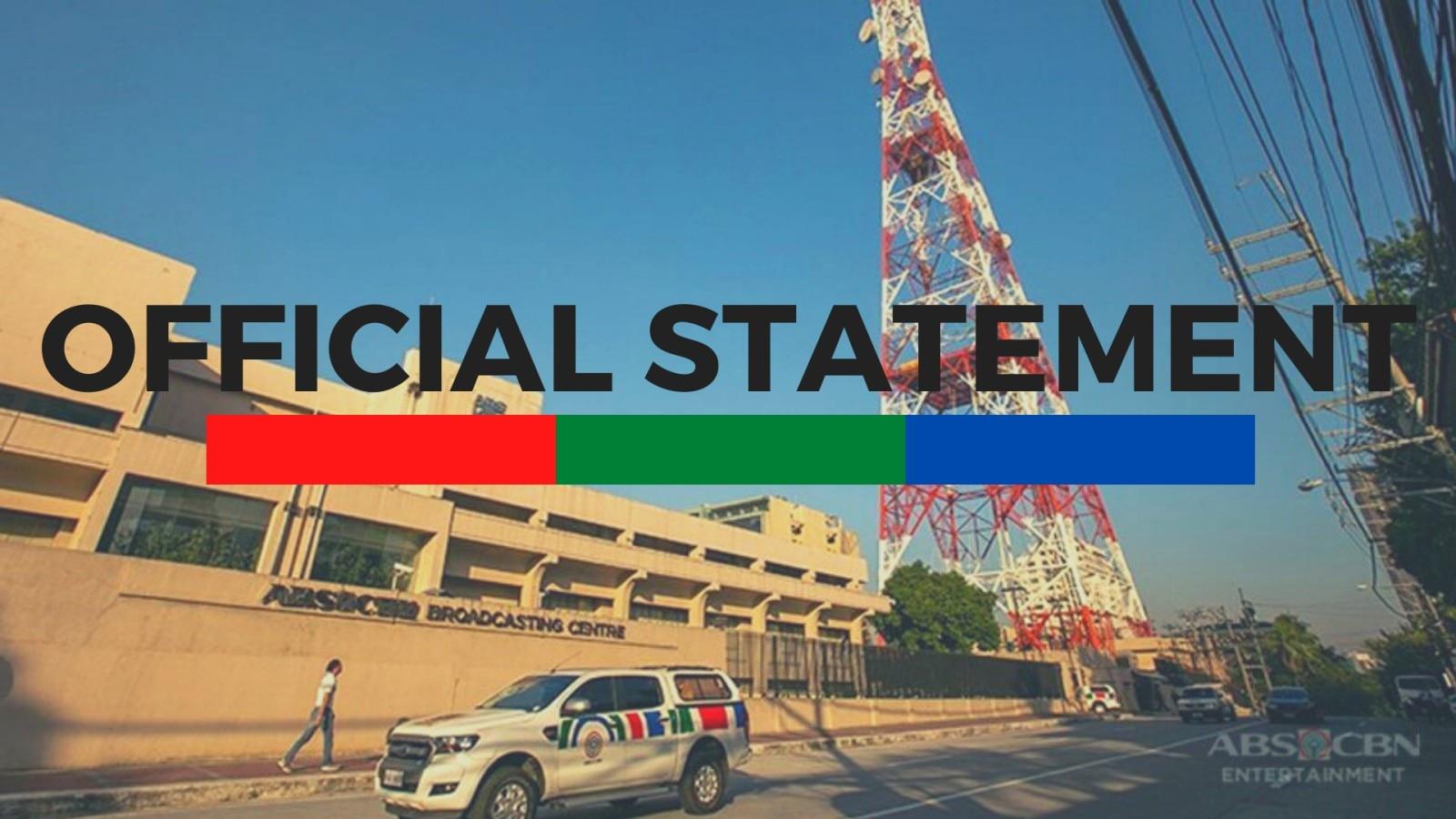 Statement on ABS-CBN TVplus