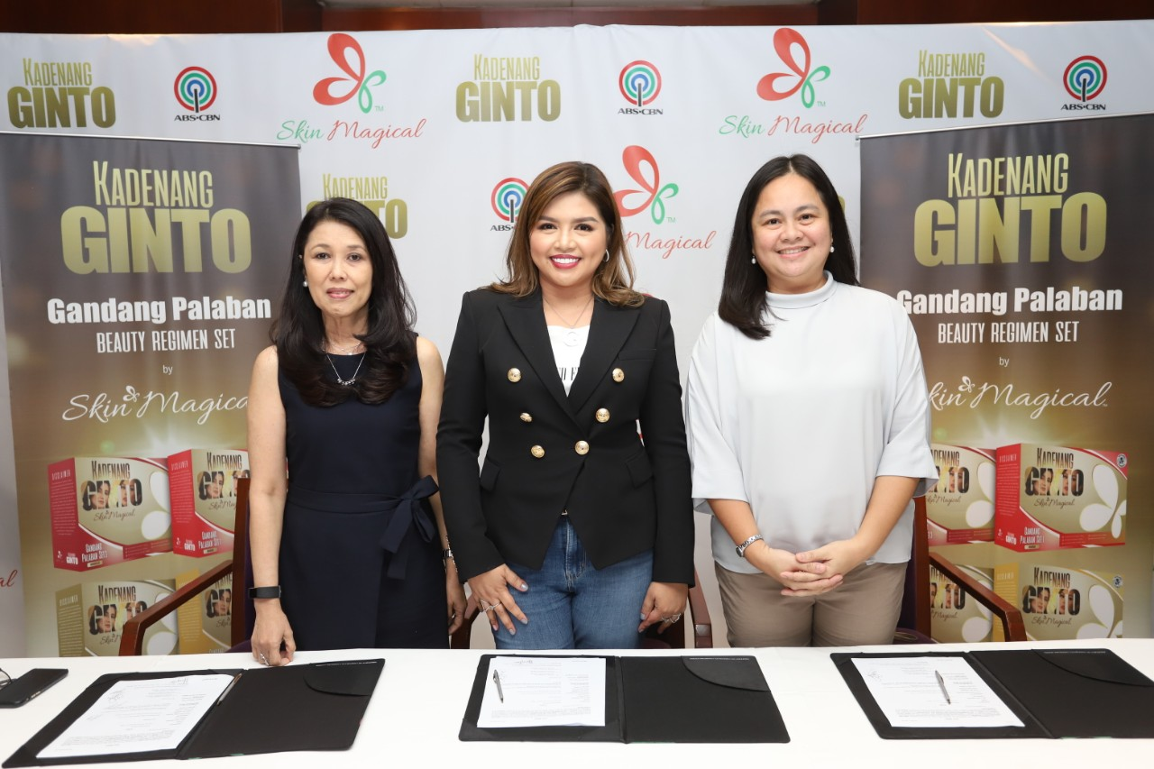"ABS-CBN and Skin Magical tie up to launch ""Kadenang Ginto"" beauty line"