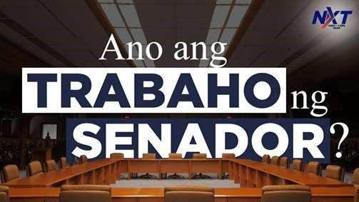 Ano ang trabaho ng senador