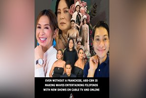 Even without a franchise, ABS-CBN is making waves entertaining Filipinos with new shows