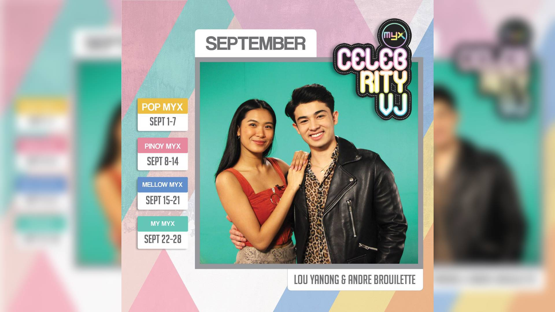 Lou and Andre are all loved up as MYX celebrity VJs this September