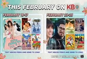 Toni-Alex, Aga-Bea movies lead KBO this February