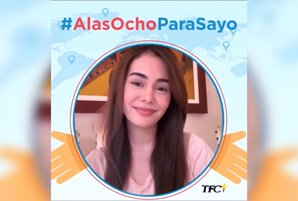 "Kapamilya stars encourage everyone to come together in cheering the frontliners via ""Alas Otso Para Sa'Yo"""