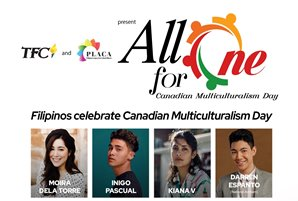 "The Fil-Canadian community demonstrates talent and creativity in ""All for One"" Canadian Multiculturalism Day"
