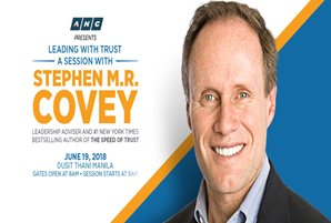 "World-renowned speaker Stephen M.R. Covey to talk about ""Trust Leadership"" in ANC forum"