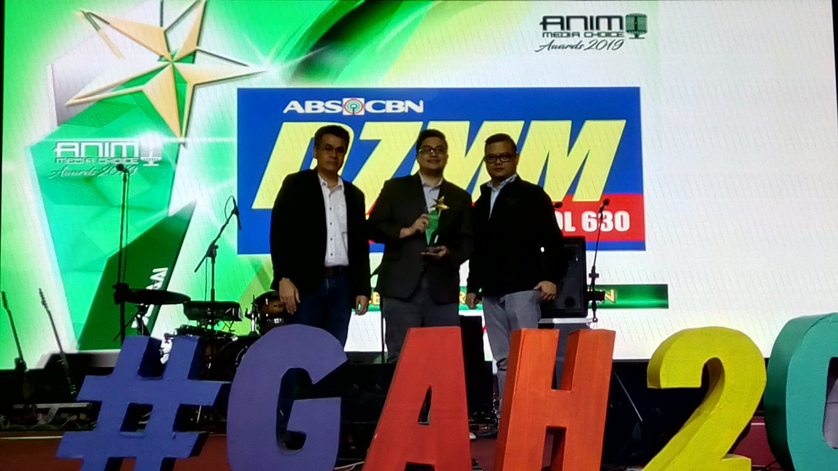 DZMM Radyo Patrol 630 won Best AM Radio Station in the 2019 Animo Media Choice Awards