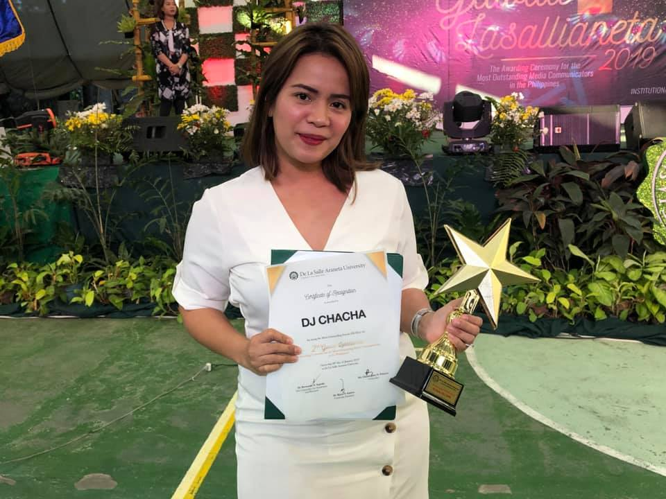 DJ Chacha wins Most Outstanding Female DJ