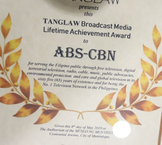 ABS CBN Lifetime Achievement Award 2