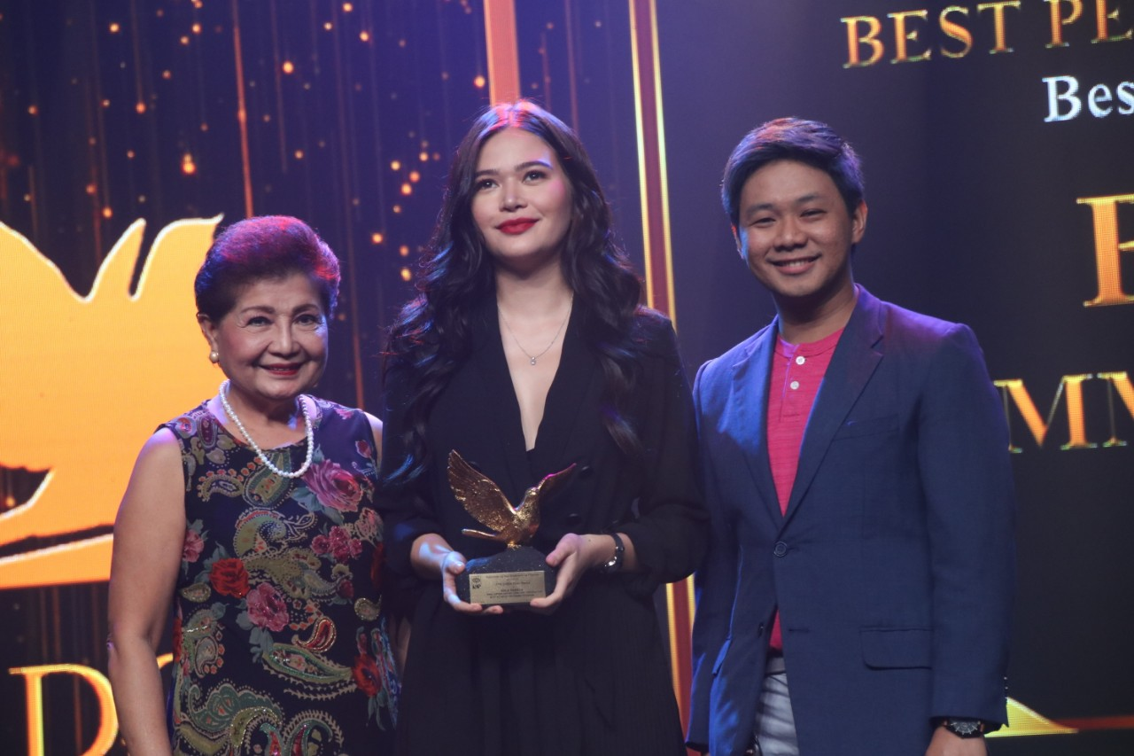 Bela Padilla struck gold in the 27th KBP Golden Dove Awards, winning the Best TV Actress for Drama for her portrayal in MMK