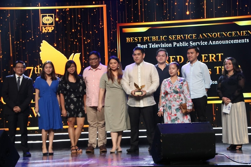 The Red Alert team led by Jeff Canoy bagged two trophies in the 27th Golden Dove Awards for Best TV Documentary Program and Best TV PSA