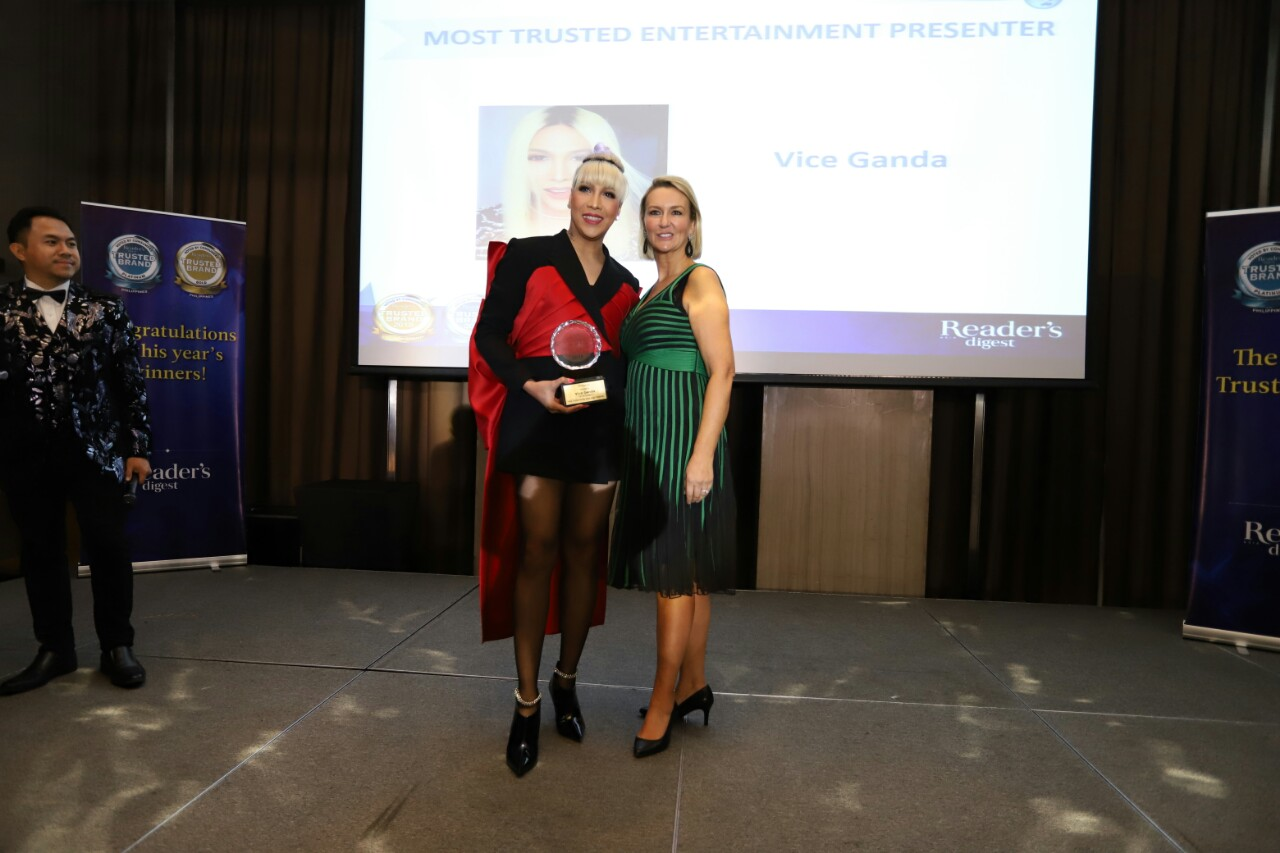 Vice Ganda wins Most Trusted Entertainment Variety Presenter