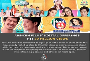 ABS-CBN Films' digital shows and series hit 30 million views