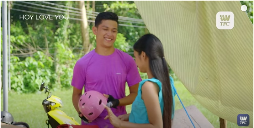 Aljon Mendoza and Karina Bautista in a scene for _Hoy, Love You!_ (1)