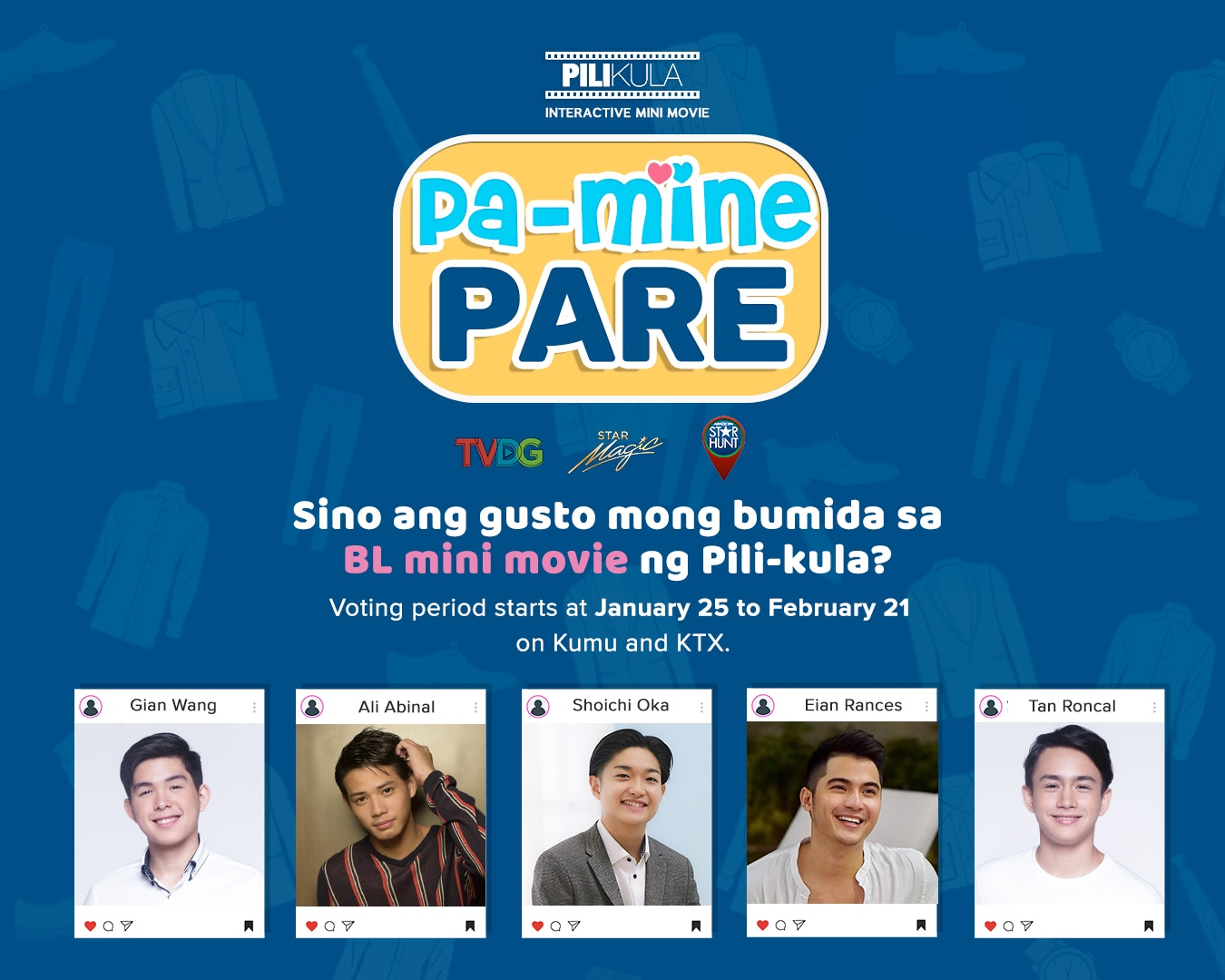 """Boys Love goes interactive in ABS-CBN's  new online anthology """"Pa-Mine, Pare!"""""""