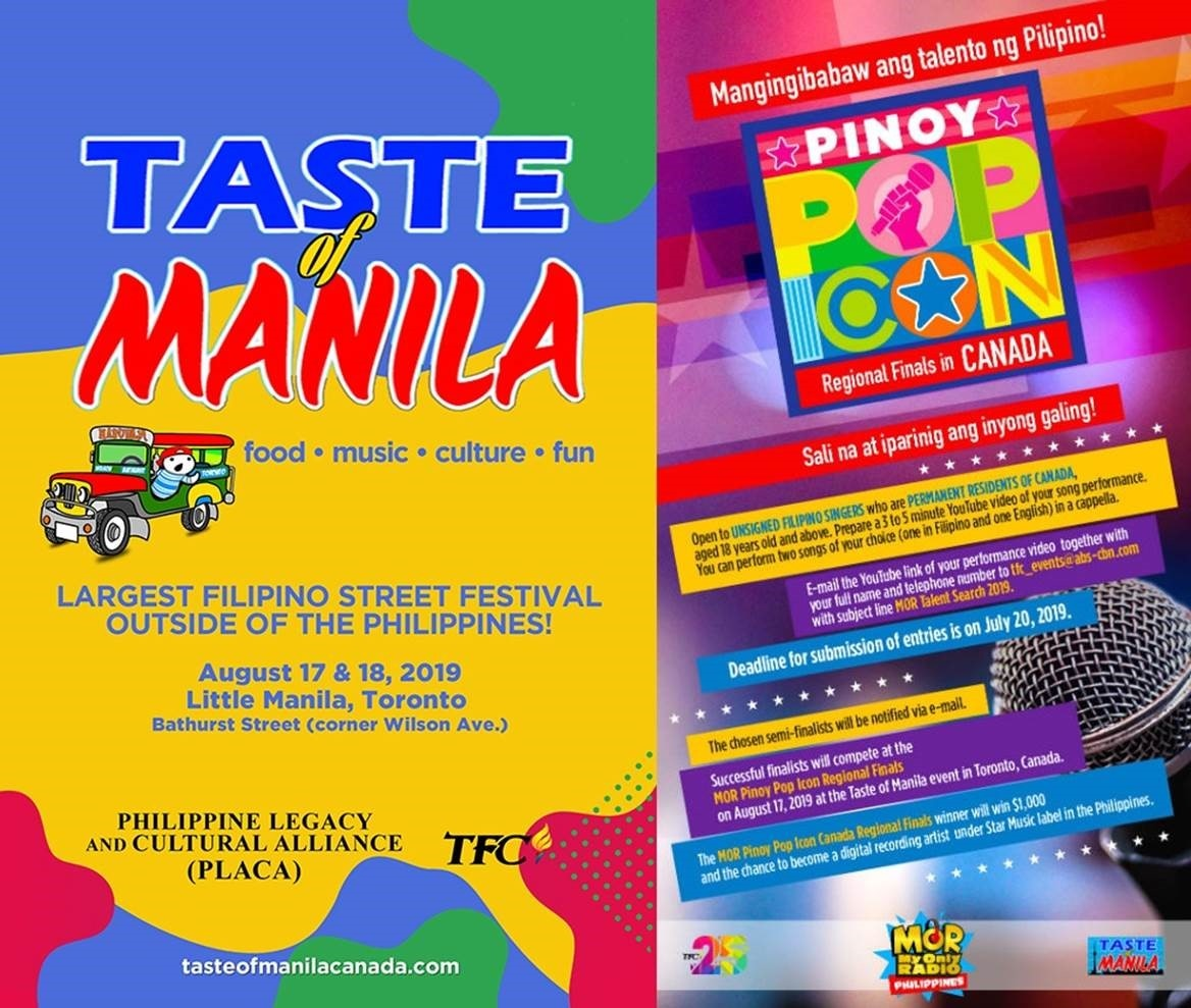 Taste of Manila and Pinoy Pop Icon