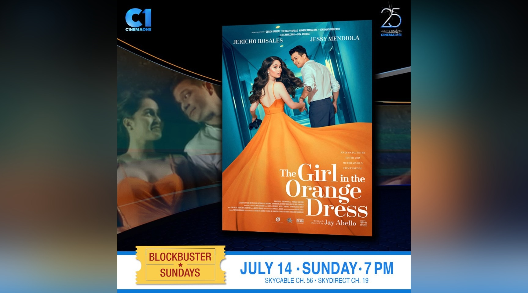 """The Girl In The Orange Dress"" airs on Cinema One this Sunday"