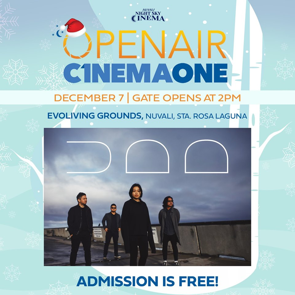 UDD set to perform at OpenAir Cinema One this Dec 8