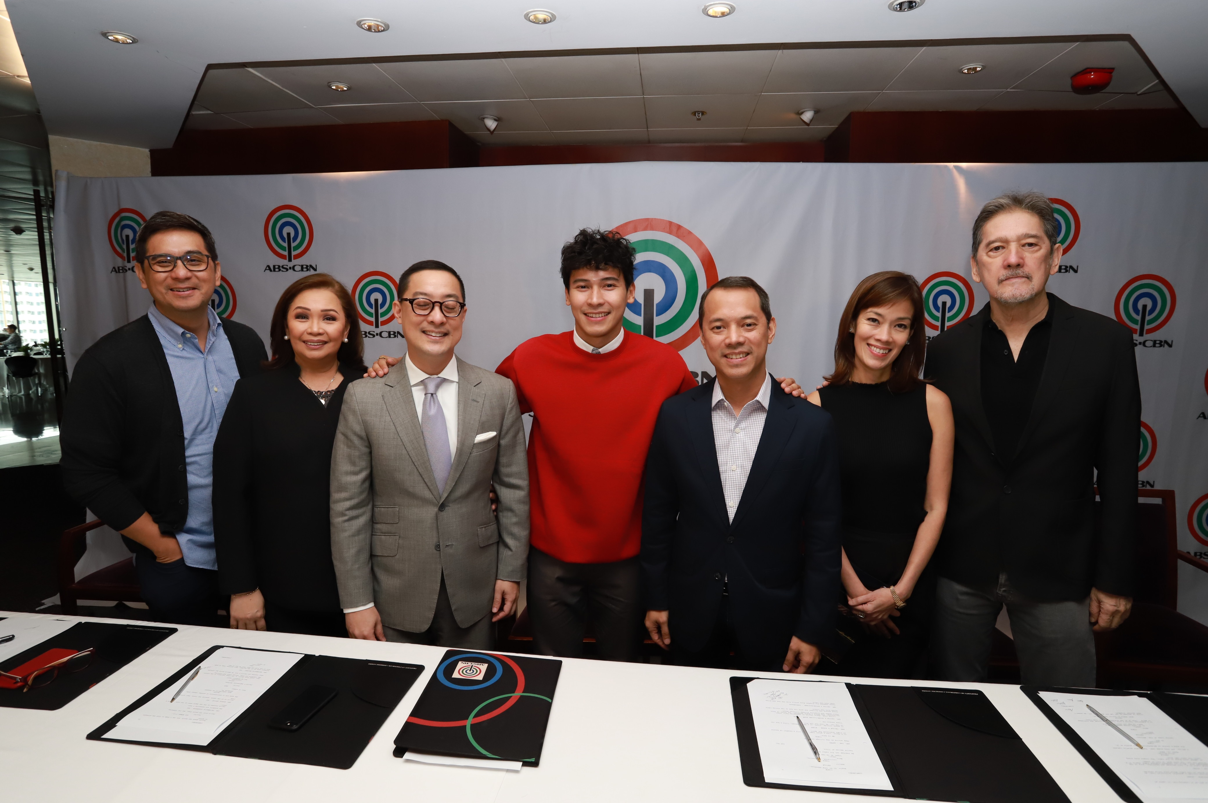 Enchong Dee with ABS CBN executives