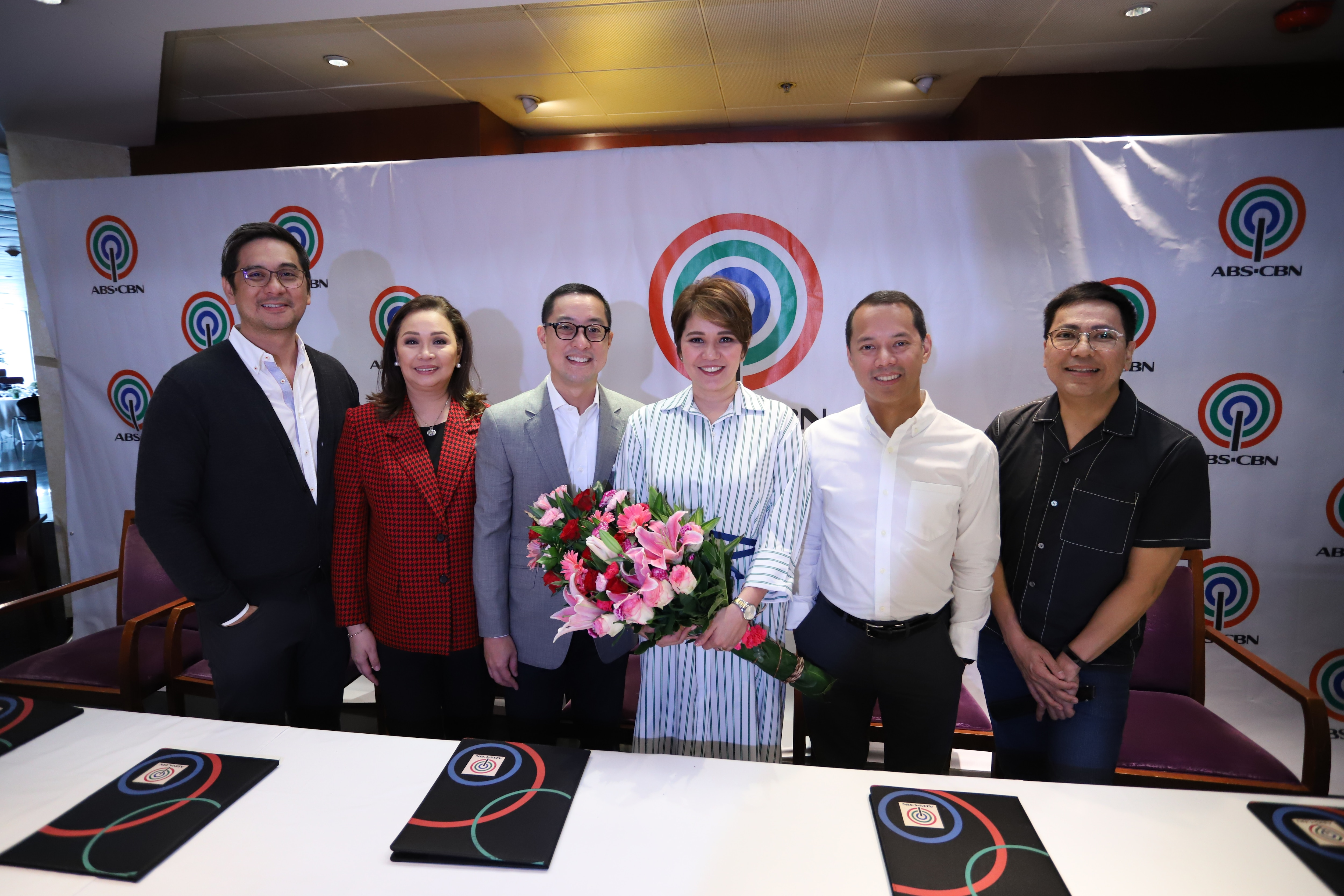 Amy Perez with ABS CBN executives
