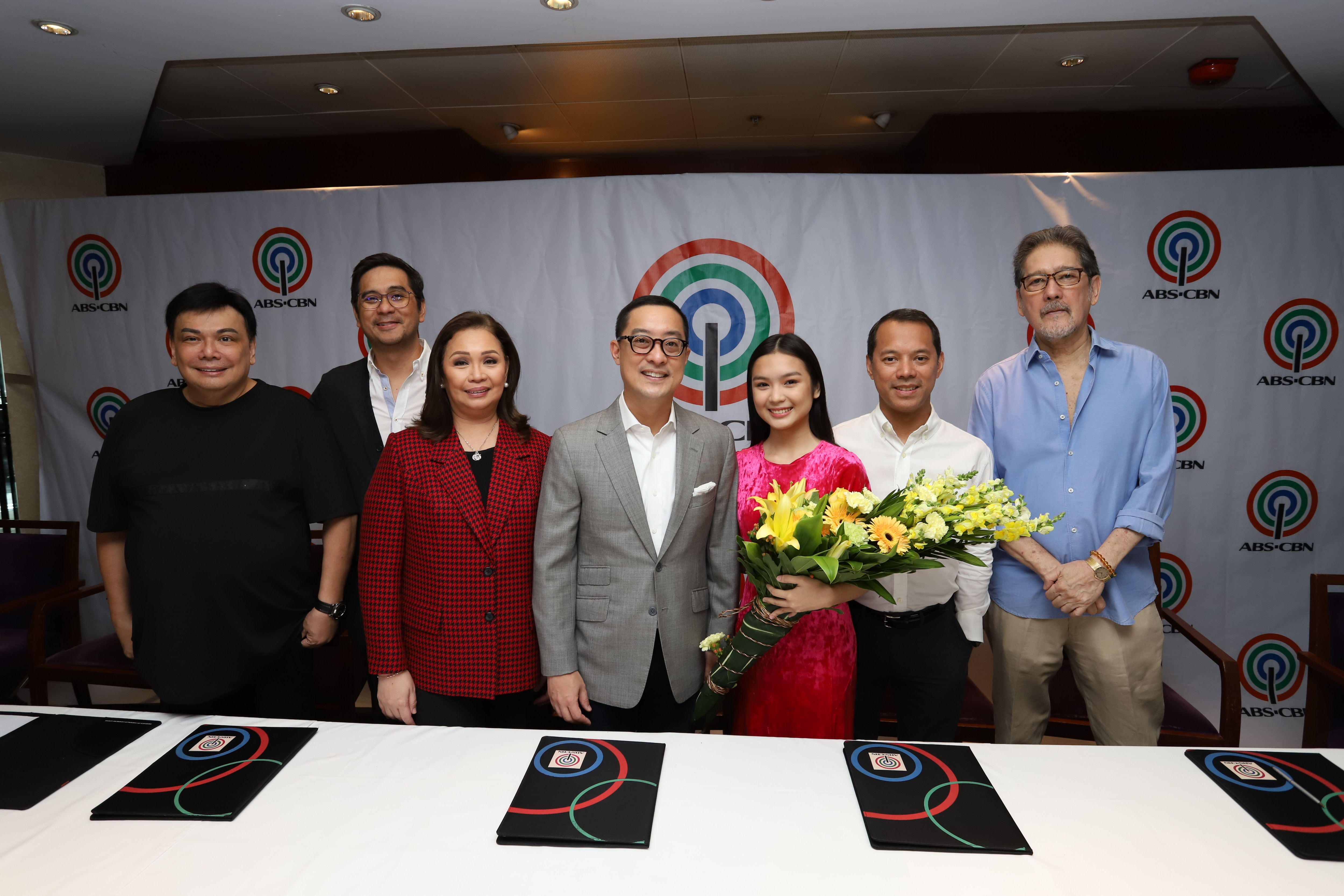 Francine Diaz with ABS CBN executives