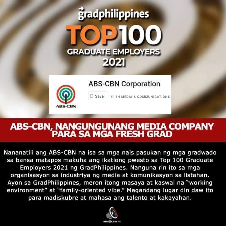 Filipino artcard   ABS CBN, nangungunang media company para sa mga fresh grad