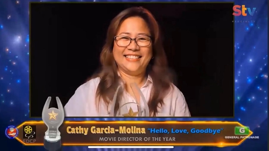 Cathy Garcia Molina won Movie Director of the Year and Movie Screenwriter of the Year