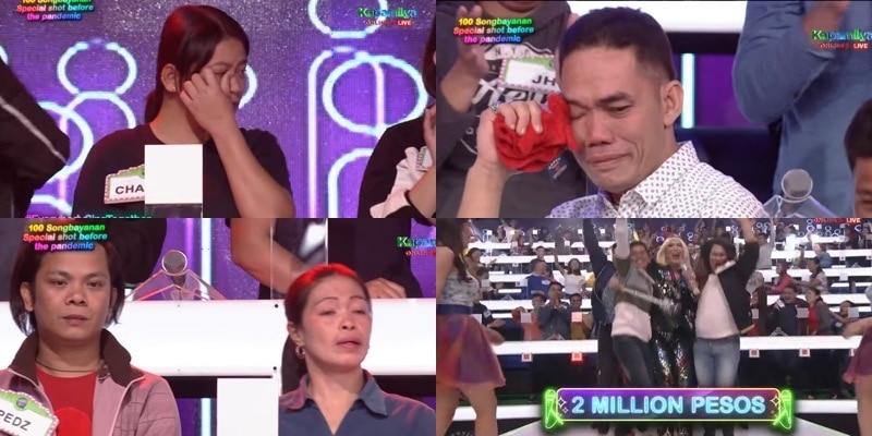 Nagdiwang at naluha ang Taal survivors matapos mapanalunan ang P2 milyong jackpot