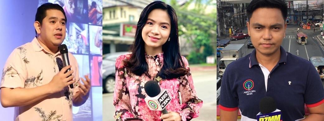5_Jeff Canoy, Lyza Aquino, and Zhander Cayabyab were each named Hero Journalist of the Year at the 15th Gawad Filipino