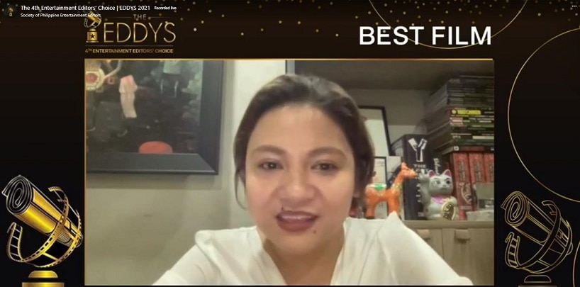 Fan Girl director Antoinette Jadaone accepted the Best Film award  She also won Best Director and Best Screenplay