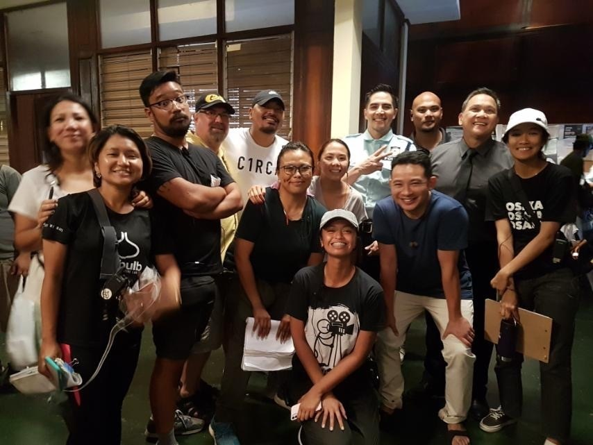 Direk Dan with the  stars and crew of Almost Paradise including Nonie Buencamino, Ketchup Eusebio, and Boom Labrusca