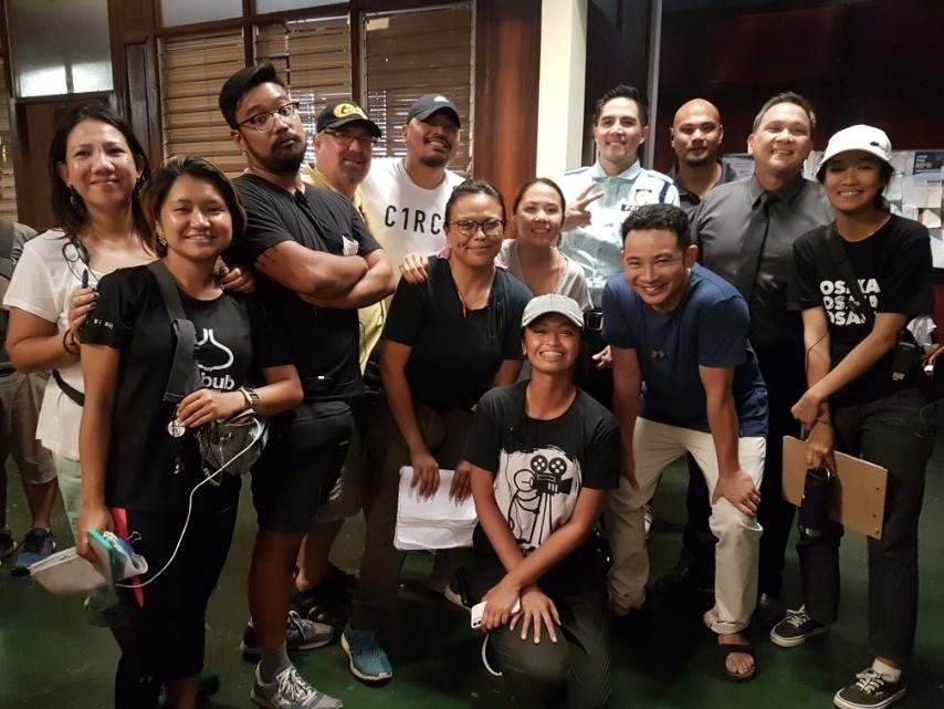 Direk Dan with the  stars and crew of Almost Paradise including Nonie Buencamino, Ketchup Eusebio, and Boom Labrusca_