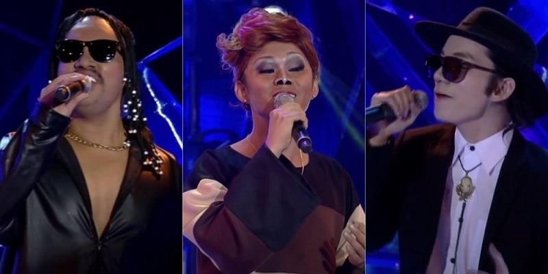 iDolls as Stevie Wonder, Dionne Warwick, and Elton John