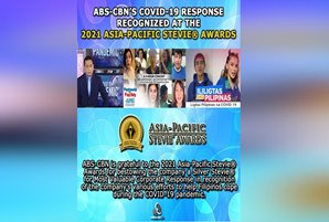ABS-CBN's COVID-19 response recognized at the 2021 Asia-Pacific Stevie® Awards