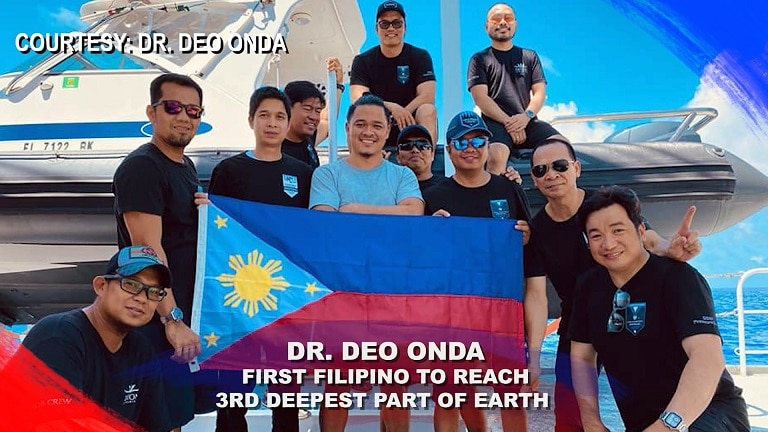 Dr  Deo Onda  First Filipino to reach 3rd deepest part of Earth