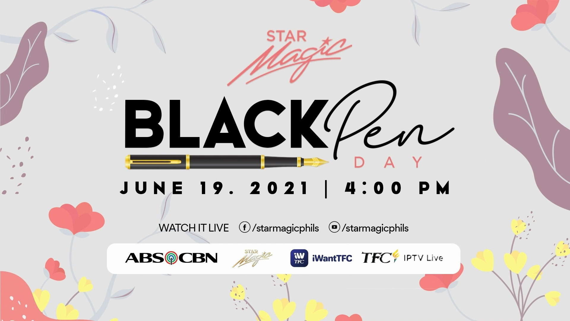 Watch over 40 artists start a new chapter with ABS CBN at the Star Magic Black Pen Day