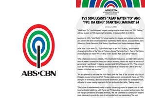 "TV5 simulcasts ""ASAP Natin 'To"" and ""FPJ: Da King"" starting January 24"