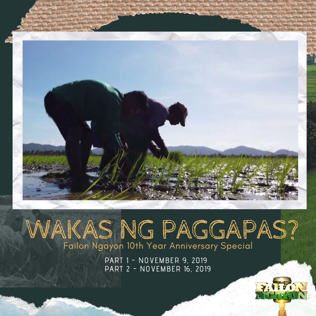 Failon Ngayon celebrates its 10th anniversary with a special episode on the rice issue in the country_