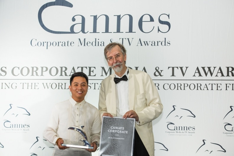 Local Legends segment producer and head writer Manolito Catacutan Jr received the Silver Dolphin in Cannes