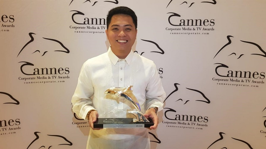 Local Legends segment producer and head writer Manolito Catacutan Jr received the Silver Dolphin in Cannes_