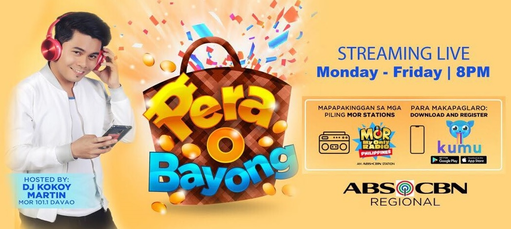 Catch Pera O Bayong Season 2 with DJ Kokoy Martin on the Kumu App and selected MOR FM radio stations starting Nov 18 (2)