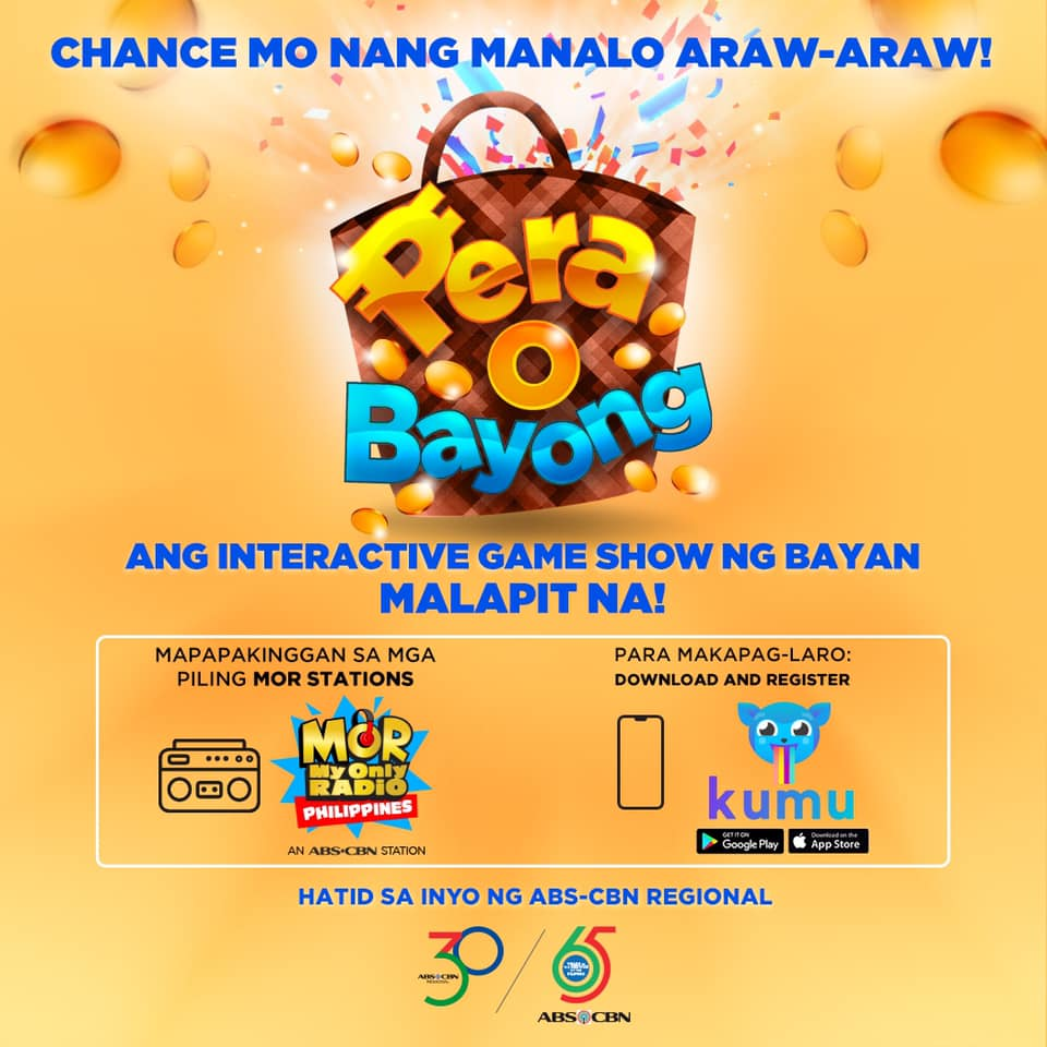 Catch Pera O Bayong Season 2 with DJ Kokoy Martin on the Kumu App and selected MOR FM radio stations starting Nov 18