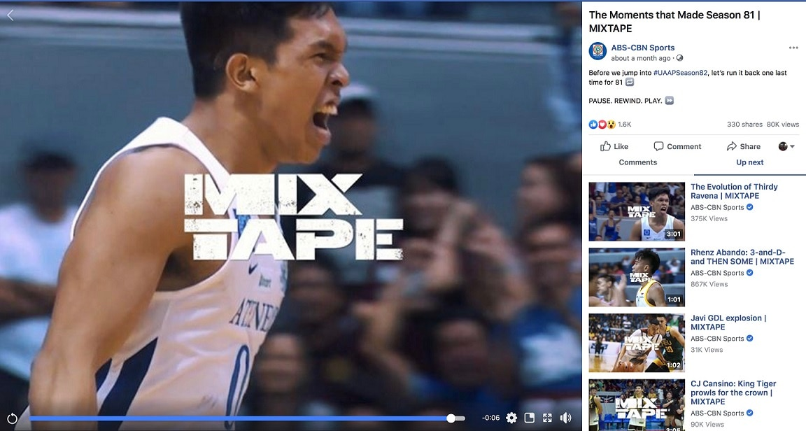 Even before the season started, UAAP fans were able to relive last year's action through the UAAP Mixtapes