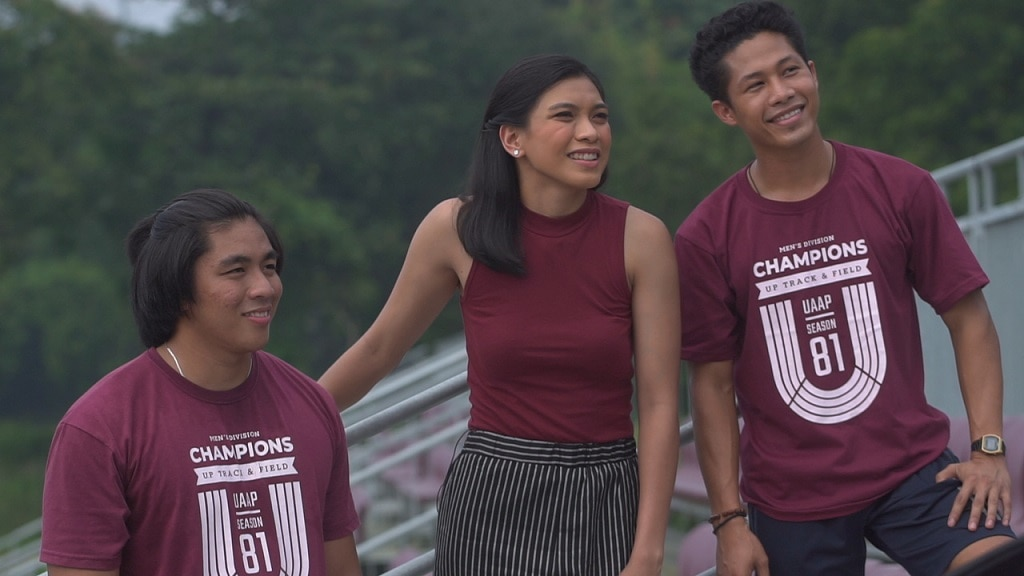 Alyssa Valdez meets the champion UP Track and Field team