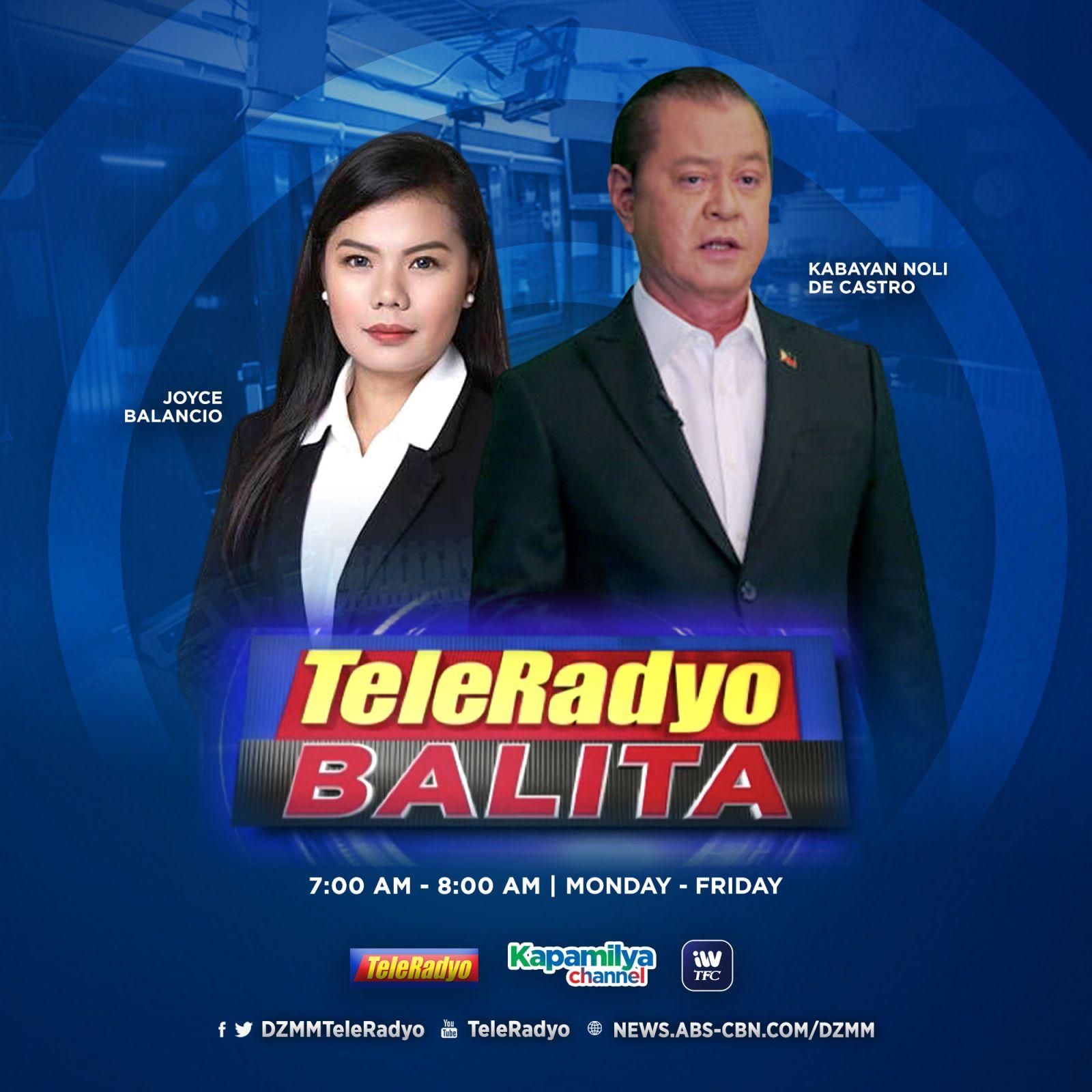 TeleRadyo Balita with Noli De Castro and Joyce Balancio
