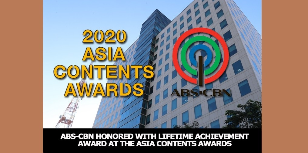 ABS-CBN honored with Lifetime Achievement Award at the Asia Contents Awards