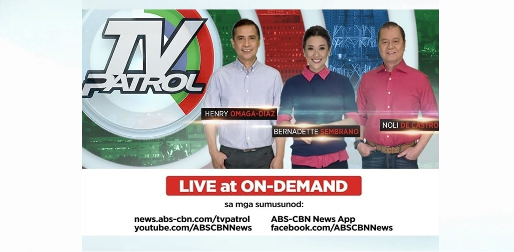 """TV Patrol,"" now streaming worldwide on YT & FB, live and on-demand"